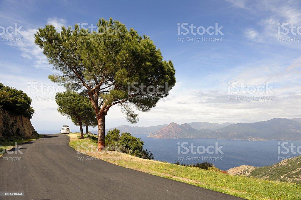 Coastal Road on the Island of Corsica royalty-free stock photo
