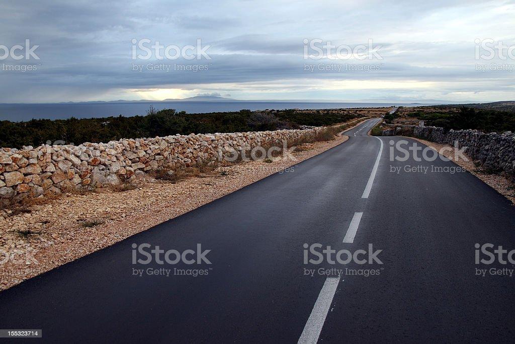 Coastal road royalty-free stock photo
