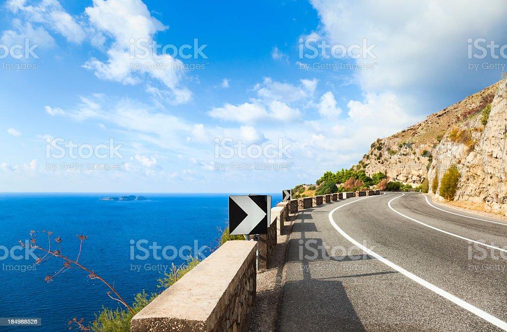 Coastal road stock photo
