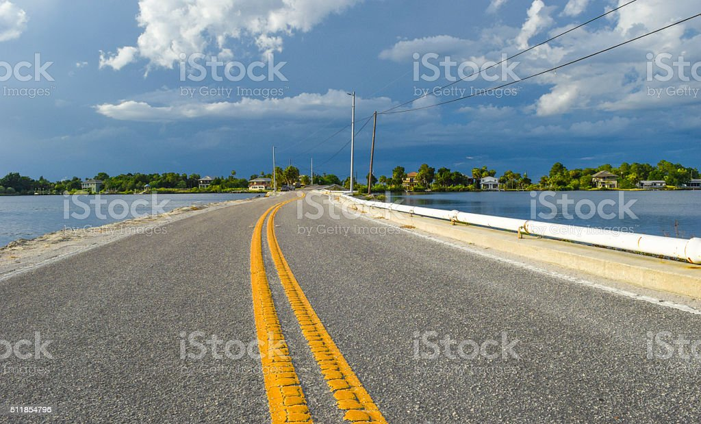 Coastal Road stock photo