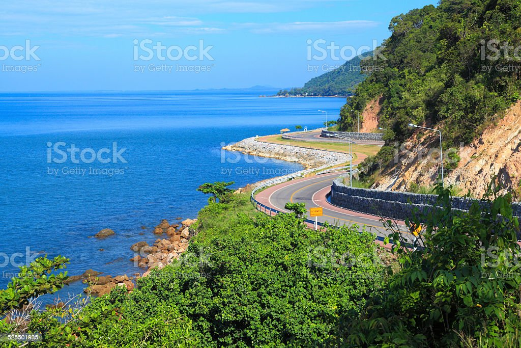 Coastal road. stock photo