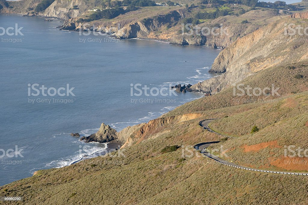 Coastal Road royalty-free stock photo
