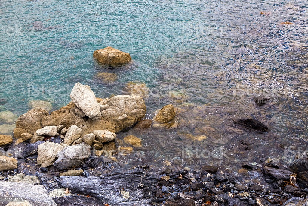 Coastal Rocks At Little Harbor, Catalina Island, California royalty-free stock photo