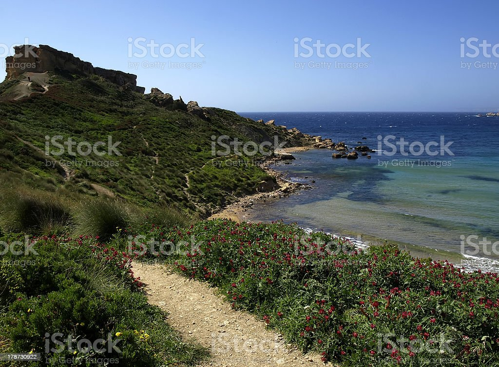 Coastal Rocks royalty-free stock photo