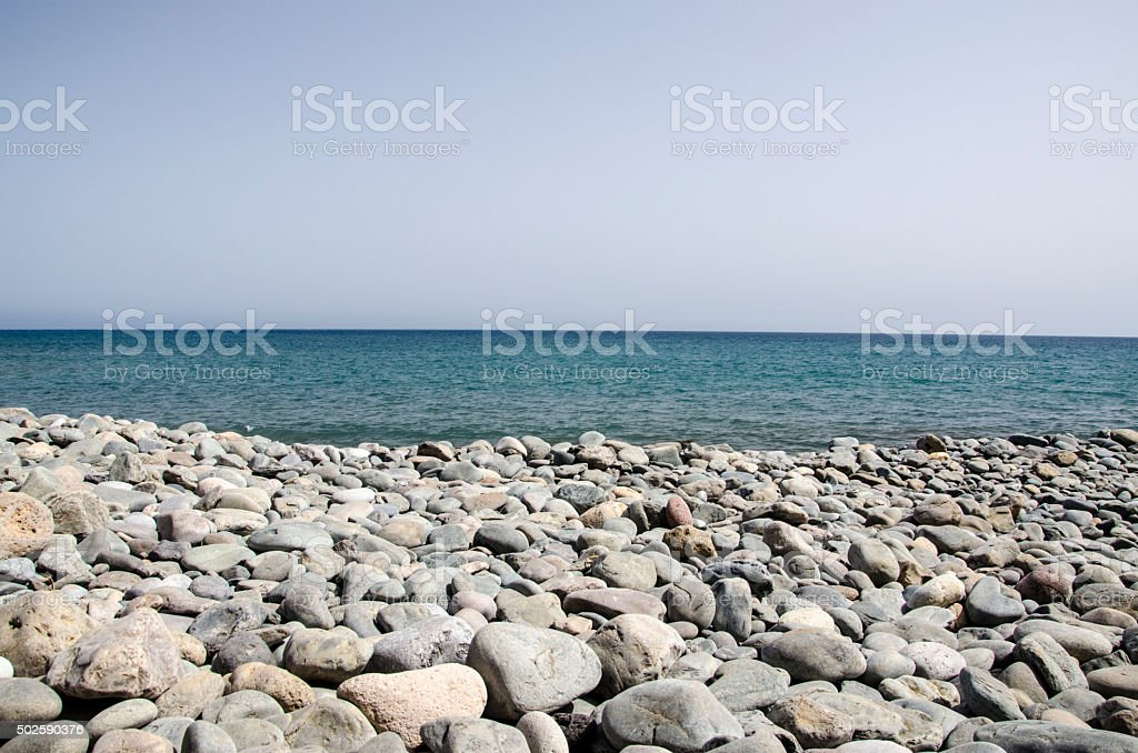 Coastal rocks stock photo