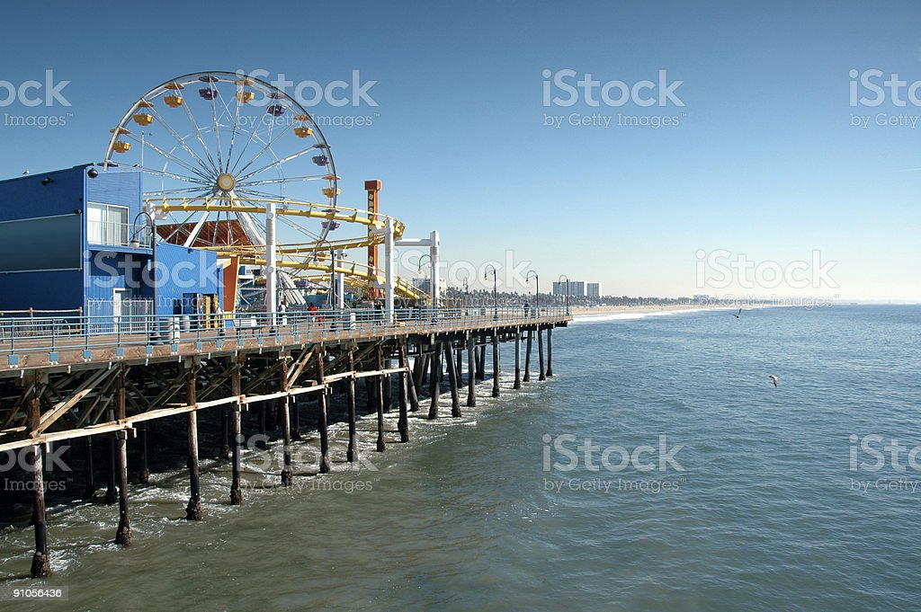 Coastal Roller Coaster royalty-free stock photo