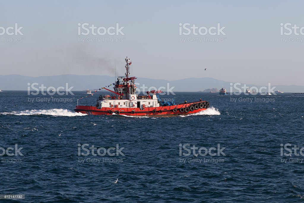 Coastal Safety Boat stock photo