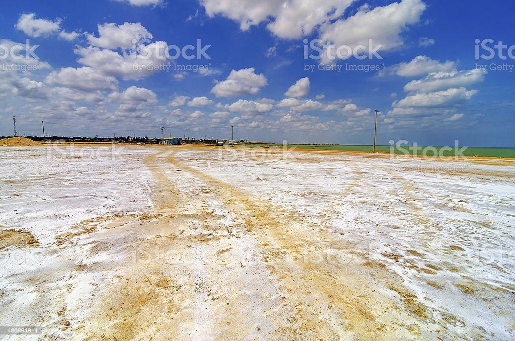 Coastal Salt Flats stock photo