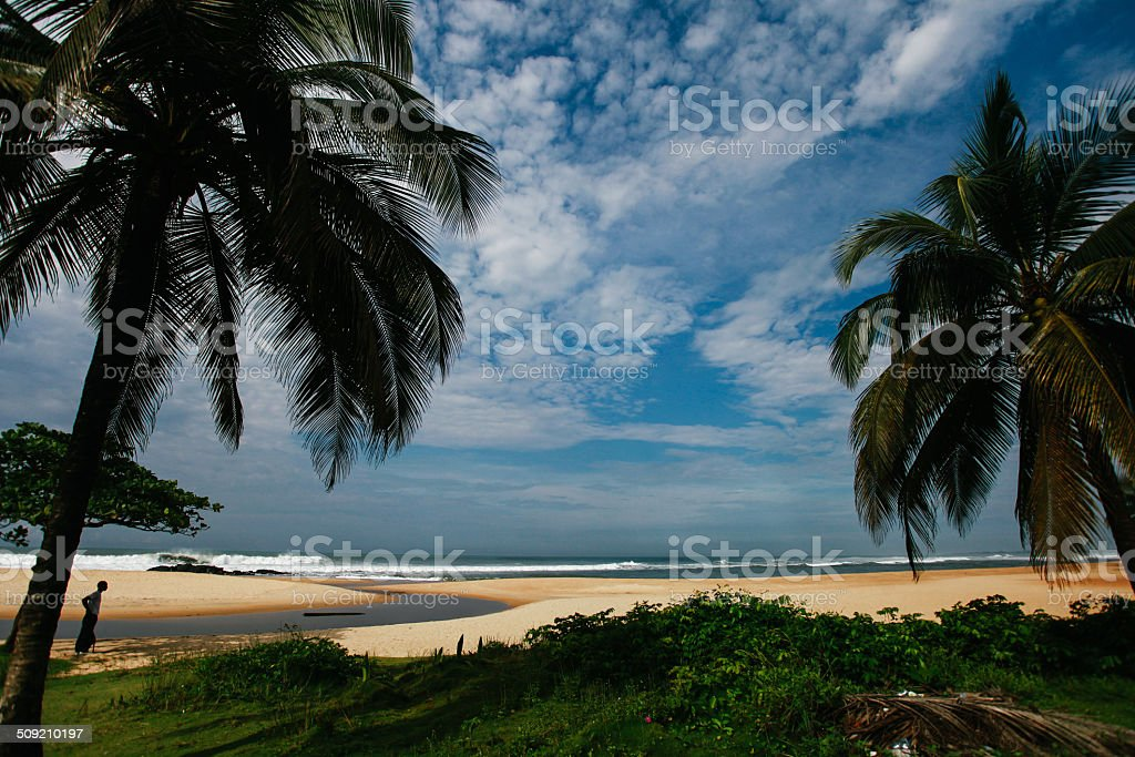 Coastal Scene from Liberia stock photo
