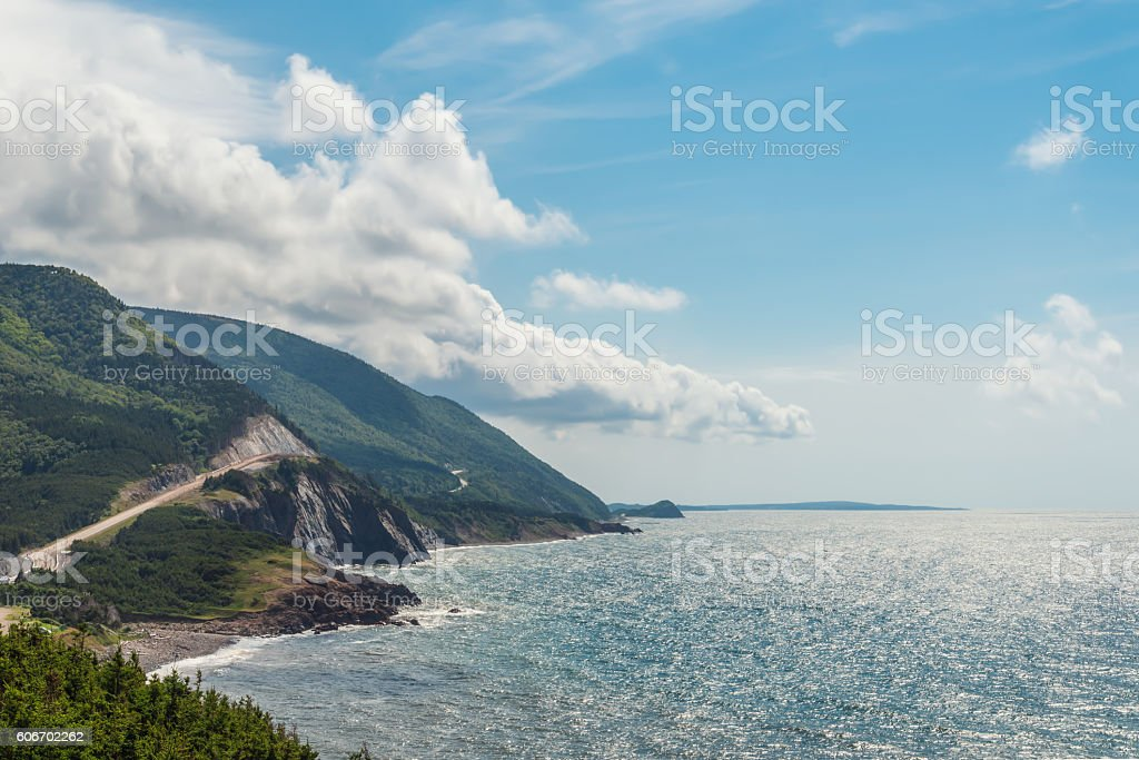 Coastal Scene on the Cabot Trail stock photo