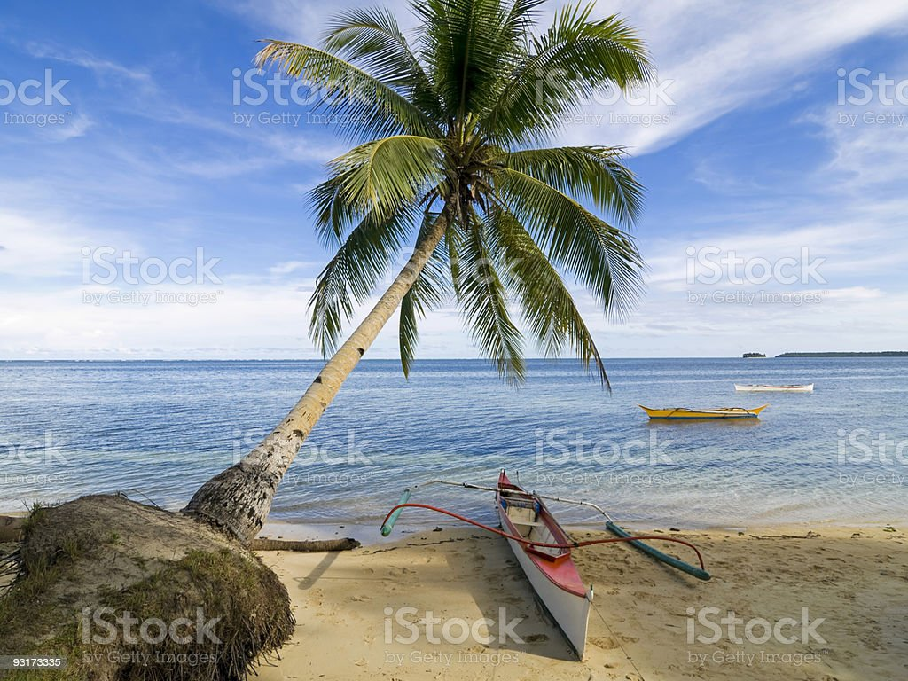 Coastal scene Siargao Island stock photo