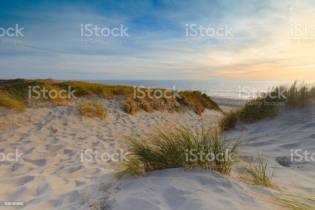 coastal scenery along the Dutch coast stock photo