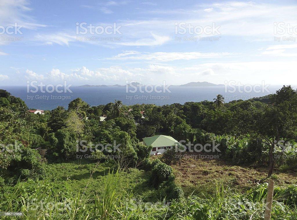 coastal scenery at Guadeloupe royalty-free stock photo