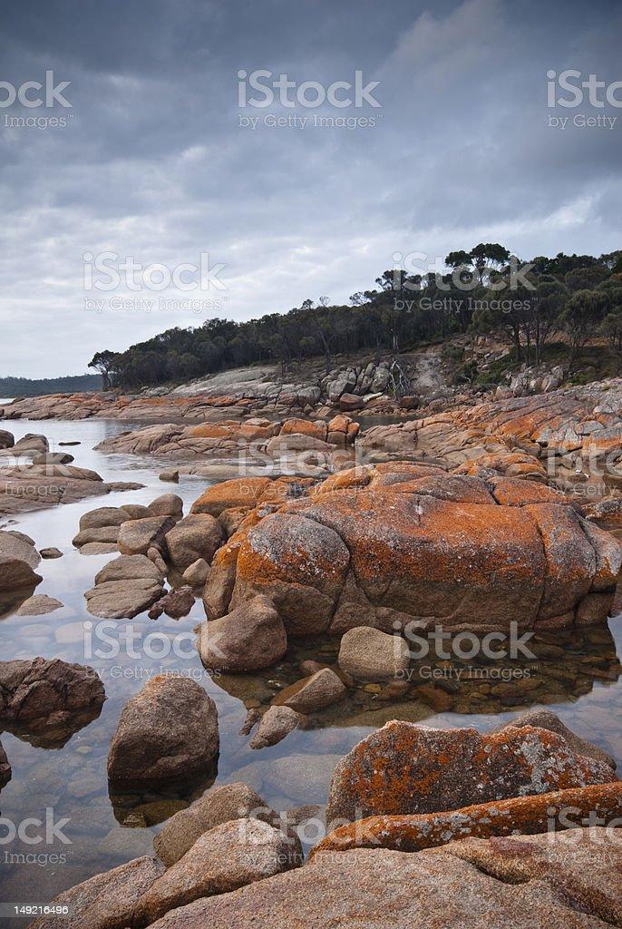 Coastal scenery, Freycinet, Tasmania stock photo