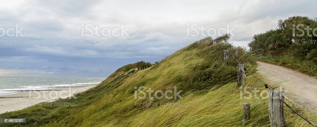 coastal scenery in the Netherlands stock photo