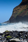 coastal scenery near Sao Jorge on Madeira