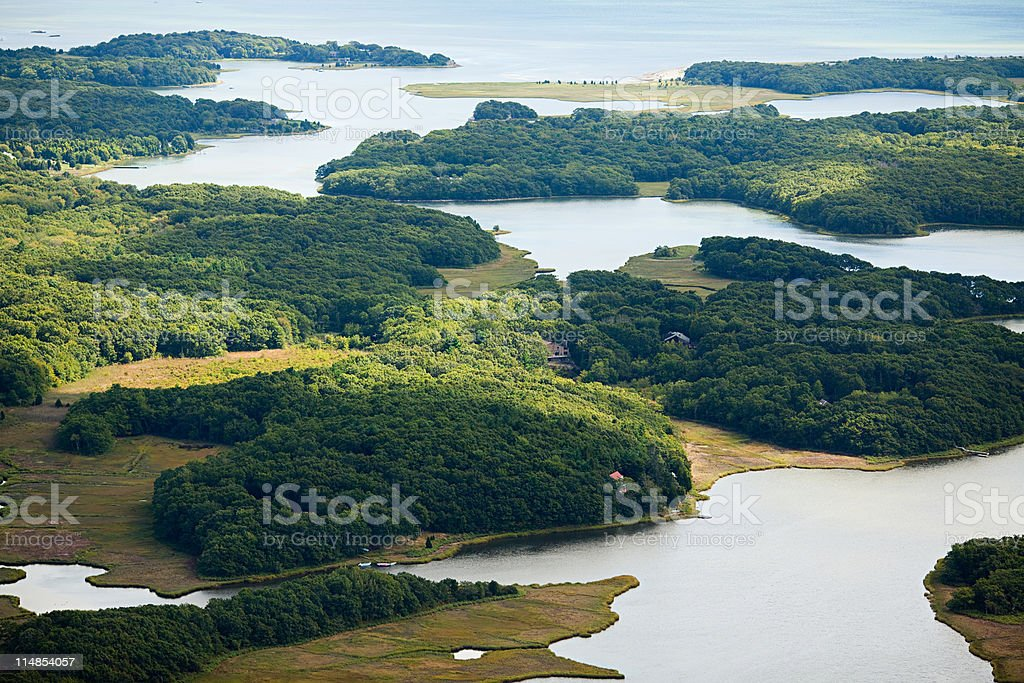 Coastal scenery, Newport County, Rhode Island, USA stock photo
