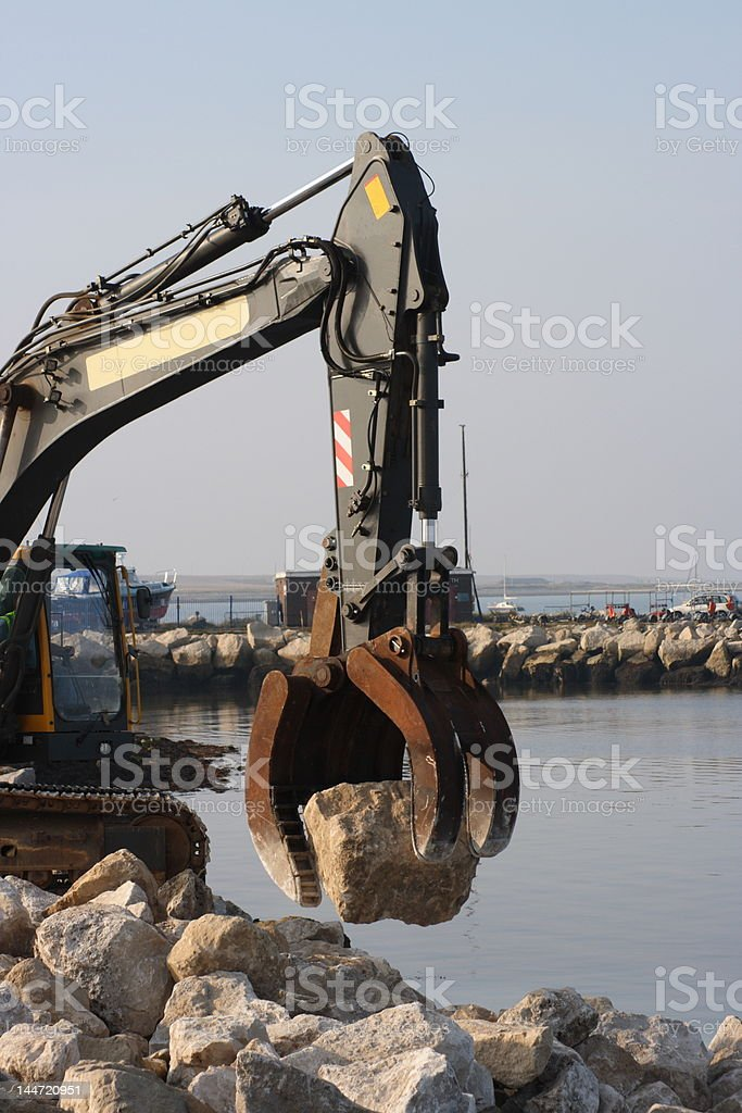 Coastal sea defense global warming royalty-free stock photo