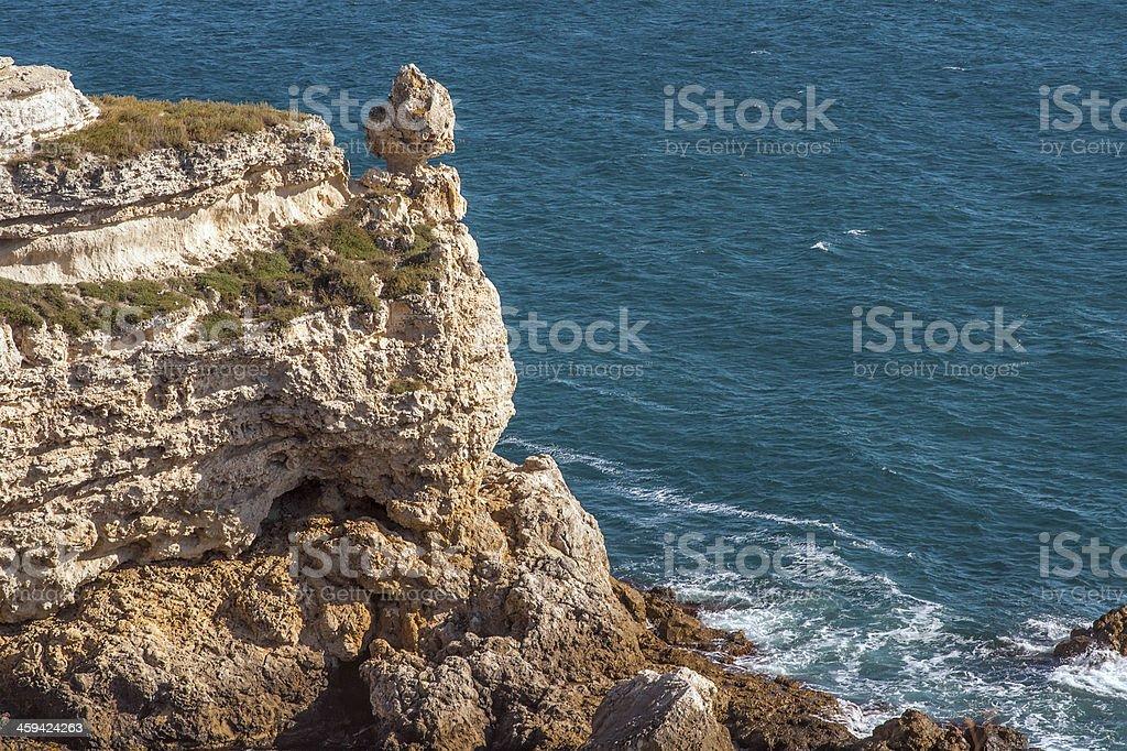 Coastal Sea Rocks beautiful view resort landscape stock photo