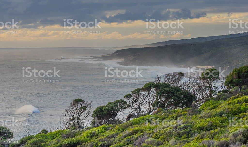 Coastal seascape at Wilyabrup, Margaret River Region, South-west Western Australia. stock photo