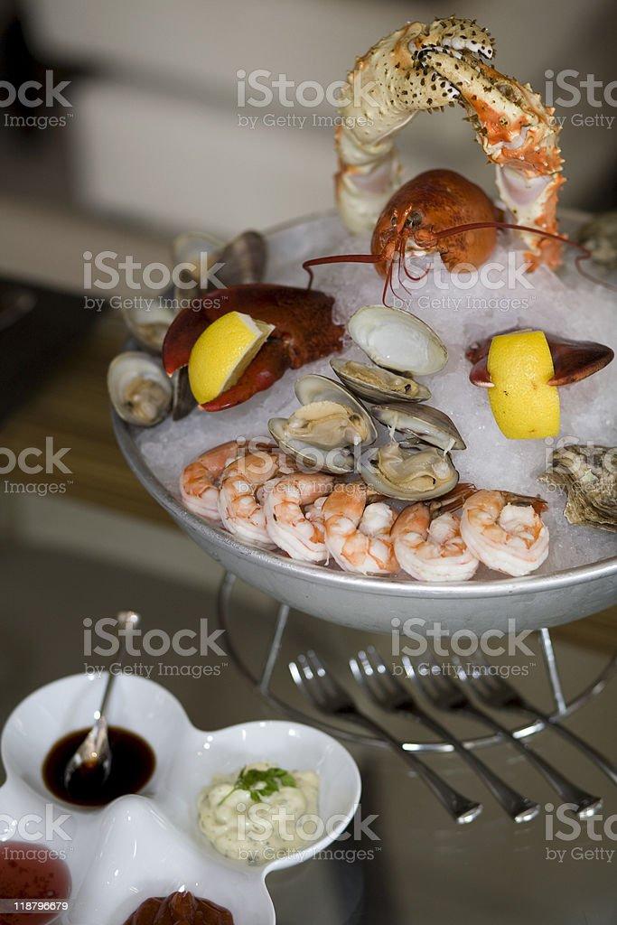 Coastal Shellfish Platter royalty-free stock photo