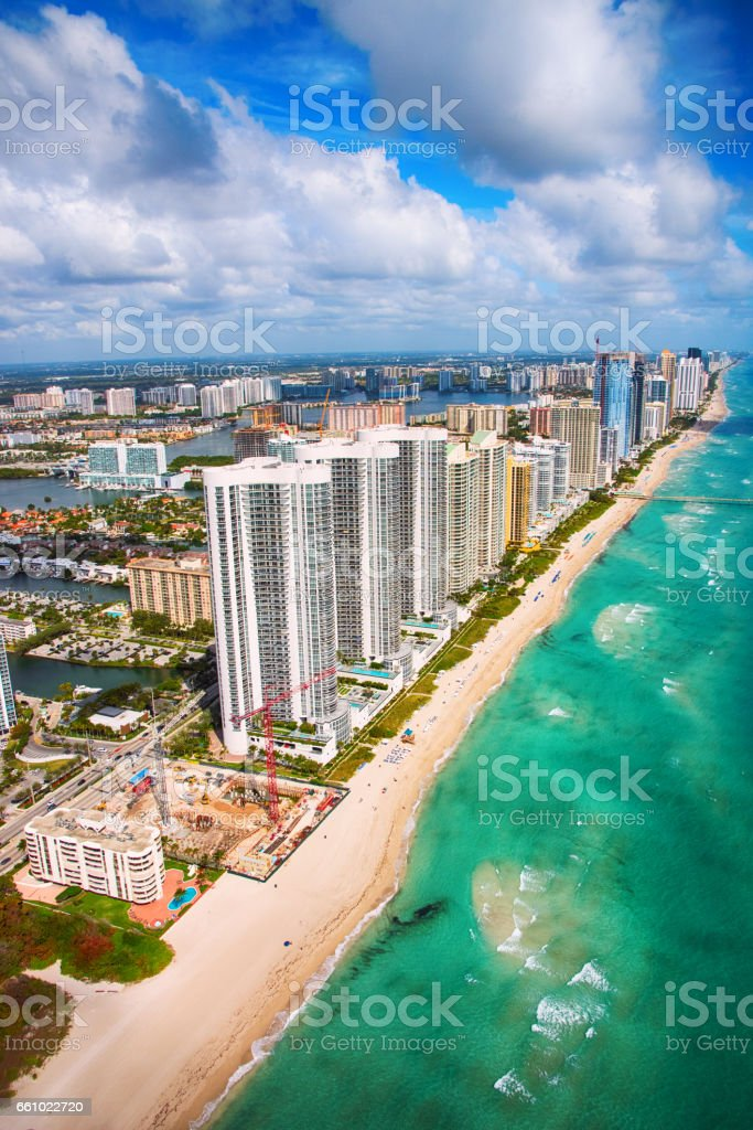 Coastal South Florida From Above stock photo