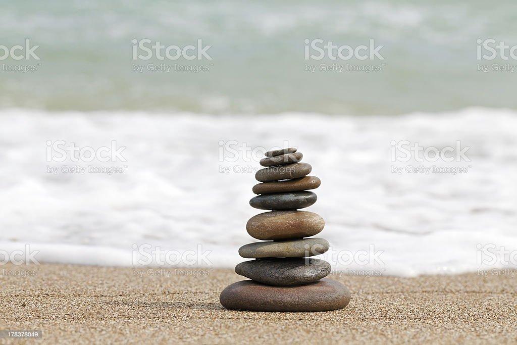 coastal stack stock photo