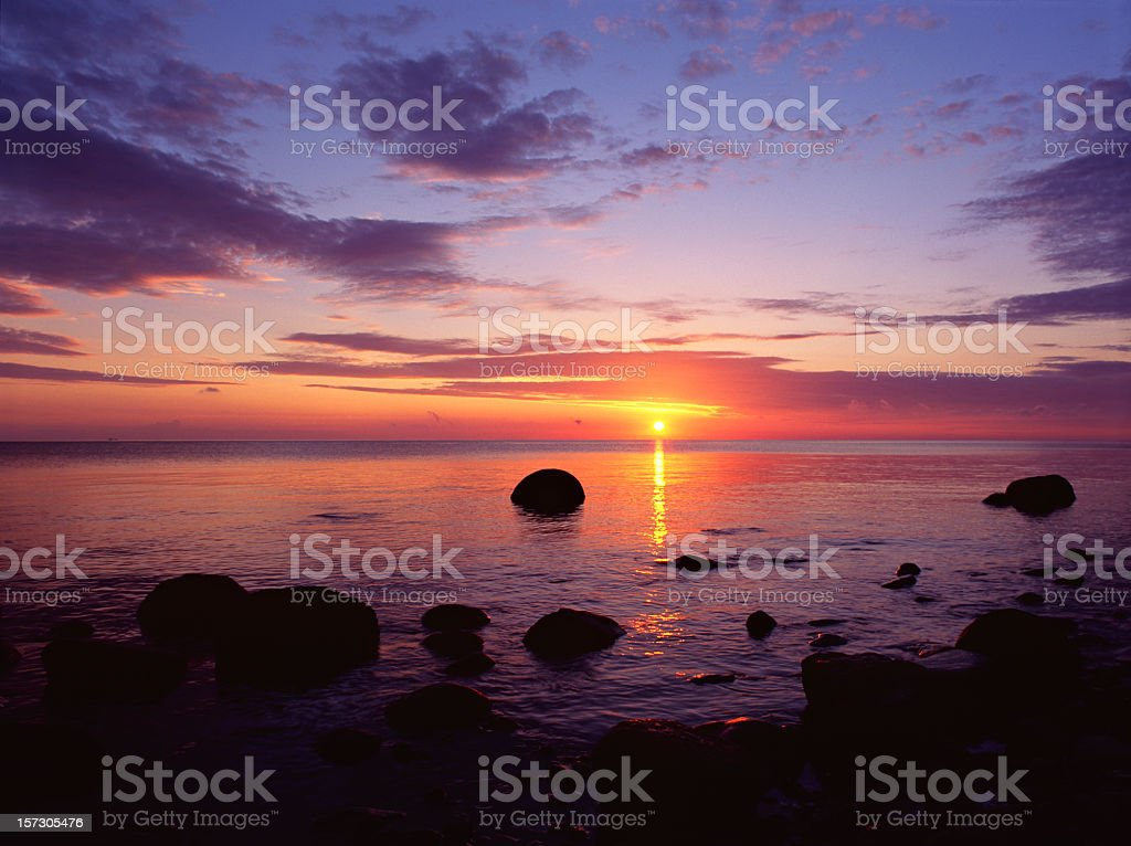 Coastal Sunrise royalty-free stock photo