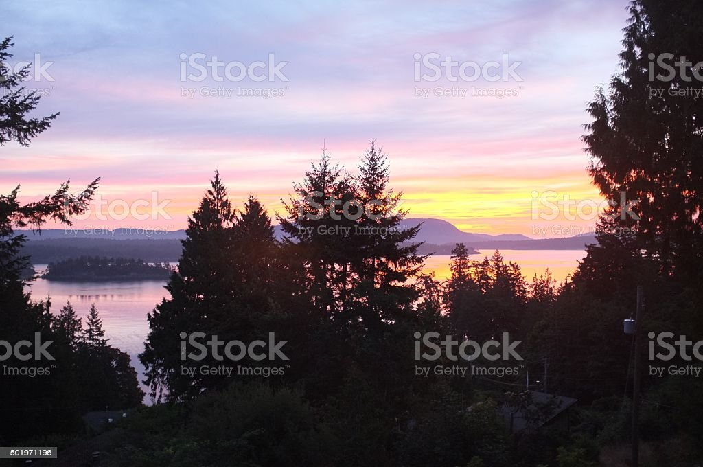 Coastal sunrise stock photo