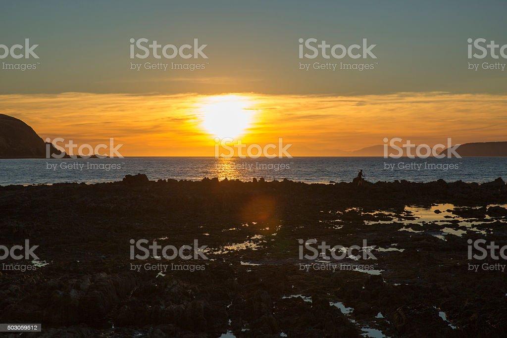 Coastal Sunset royalty-free stock photo