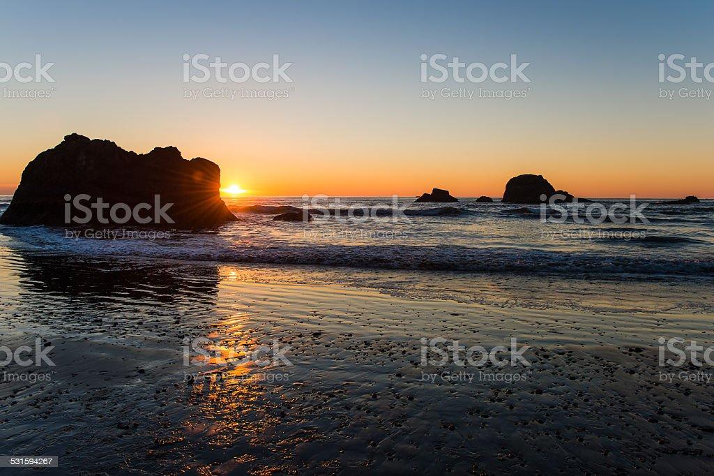 Coastal Sunset stock photo