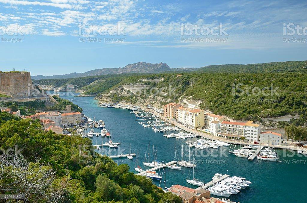 Coastal town Bonifacio stock photo