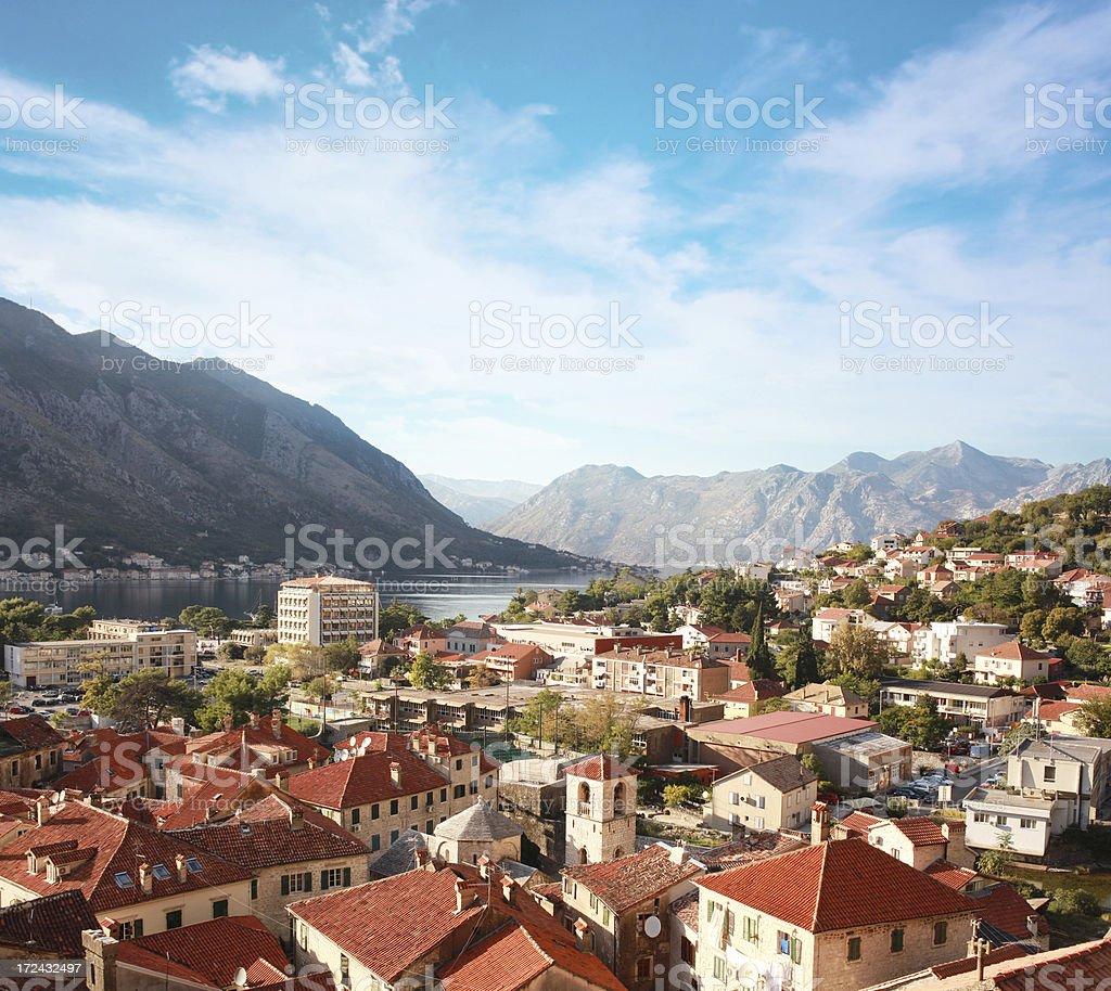 Coastal town in the sunny Mediterranean royalty-free stock photo