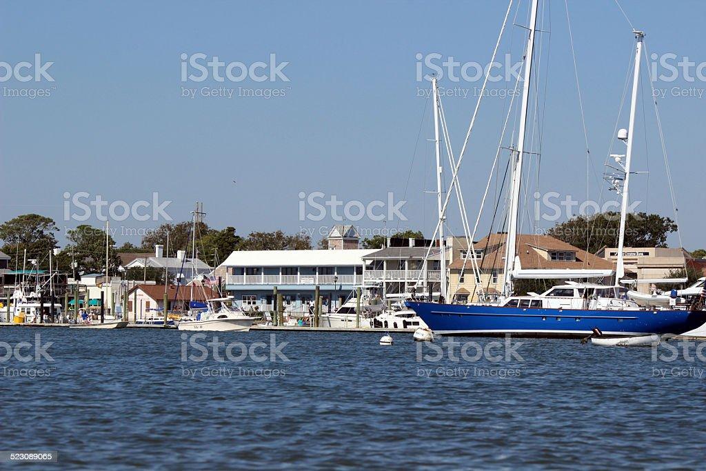 Coastal Town of Beaufort, North Carolina, Waterfront stock photo