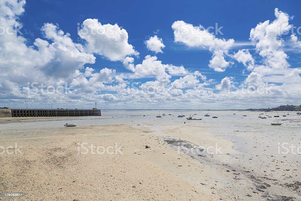 Coastal town of Cancale stock photo