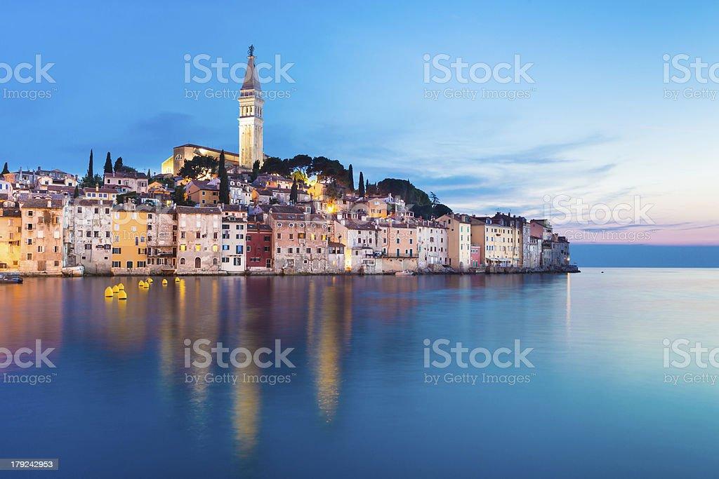 Coastal town of Rovinj, Istria, Croatia. stock photo