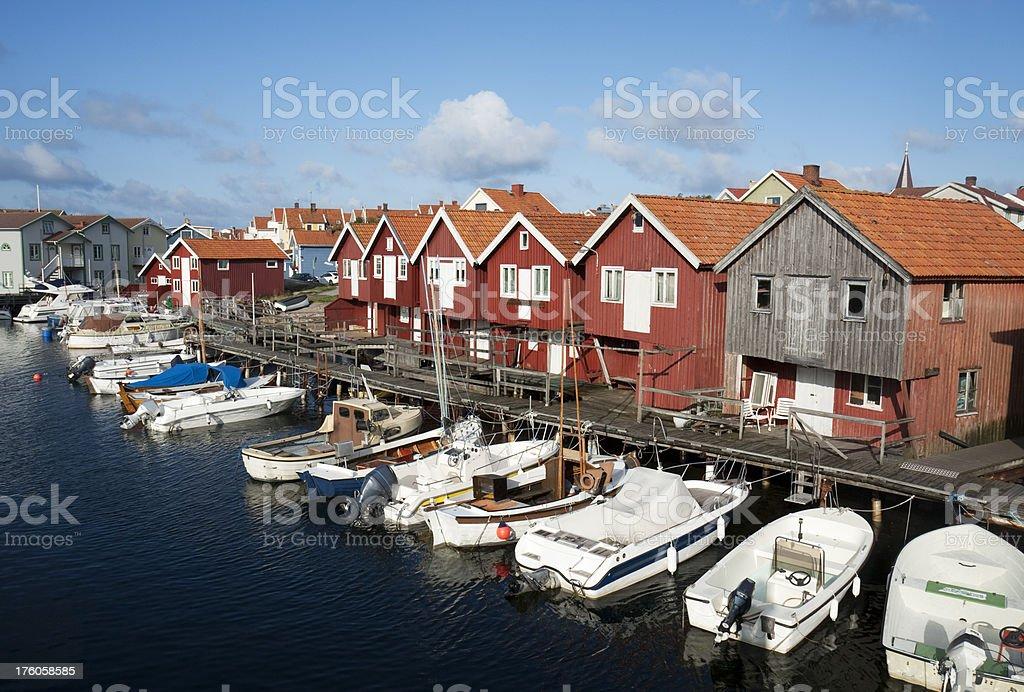 Coastal town royalty-free stock photo