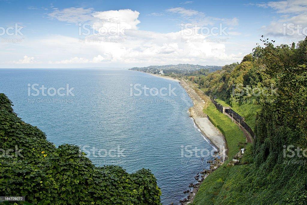 Coastal Train stock photo
