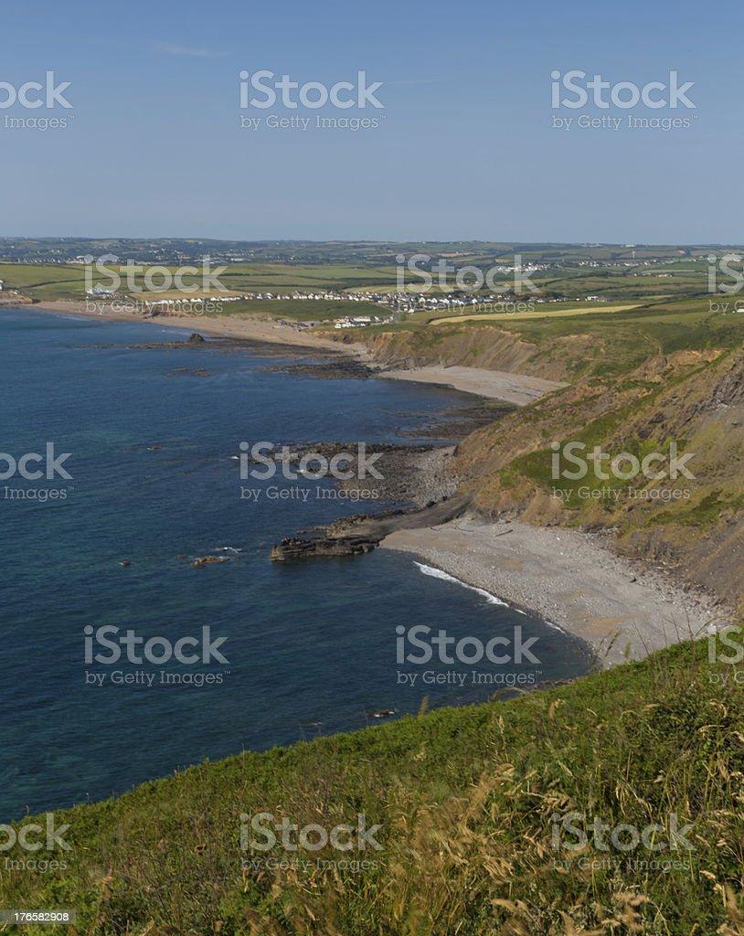 Coastal view of North Cornwall beaches stock photo
