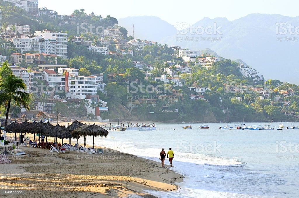 Coastal view of Puerto Vallarta, Mexico stock photo