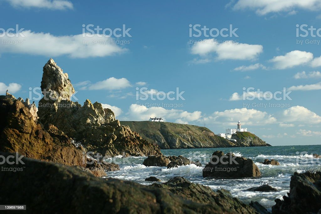 Coastal view with rocks and ocean royalty-free stock photo