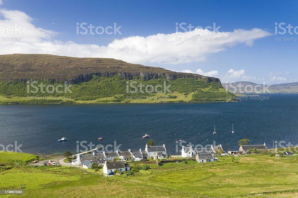 Coastal village on the Isle of Skye royalty-free stock photo