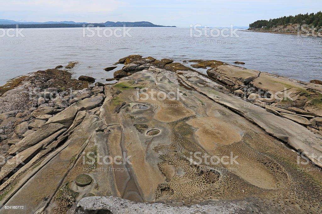 Coastal Vista on Gabriola Island stock photo