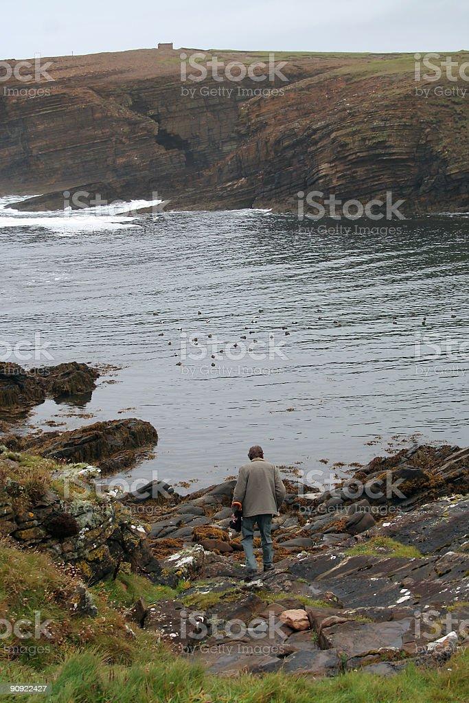 coastal walk stock photo