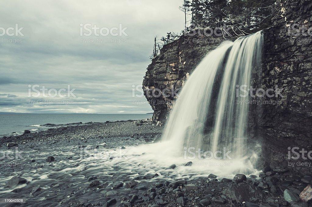 Coastal Waterfall royalty-free stock photo