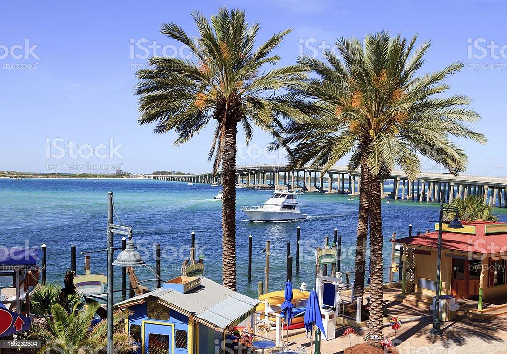 Coastal waters around Destin Florida stock photo