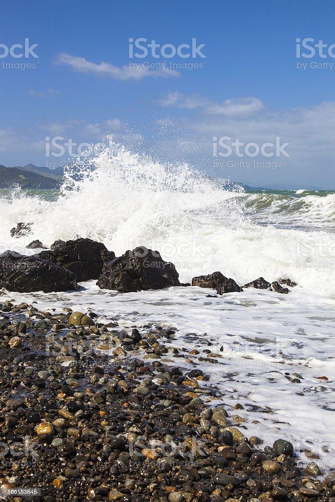 Coastal Waves royalty-free stock photo
