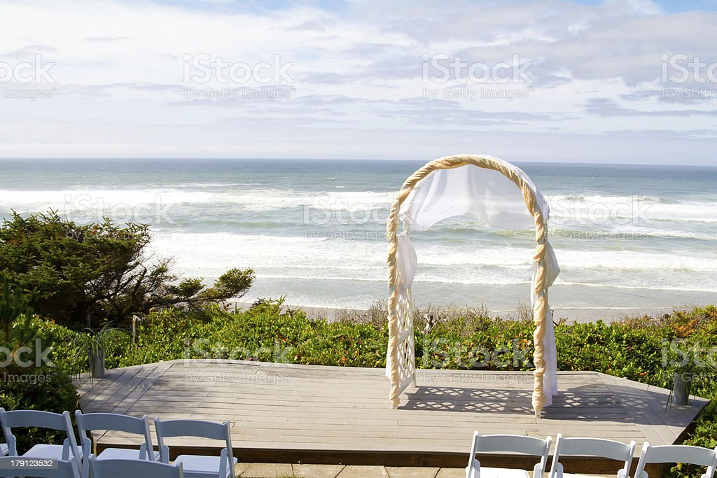 Coastal Wedding Venue royalty-free stock photo