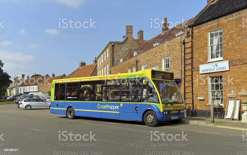 Coasthopper bus in Burnham Market royalty-free stock photo