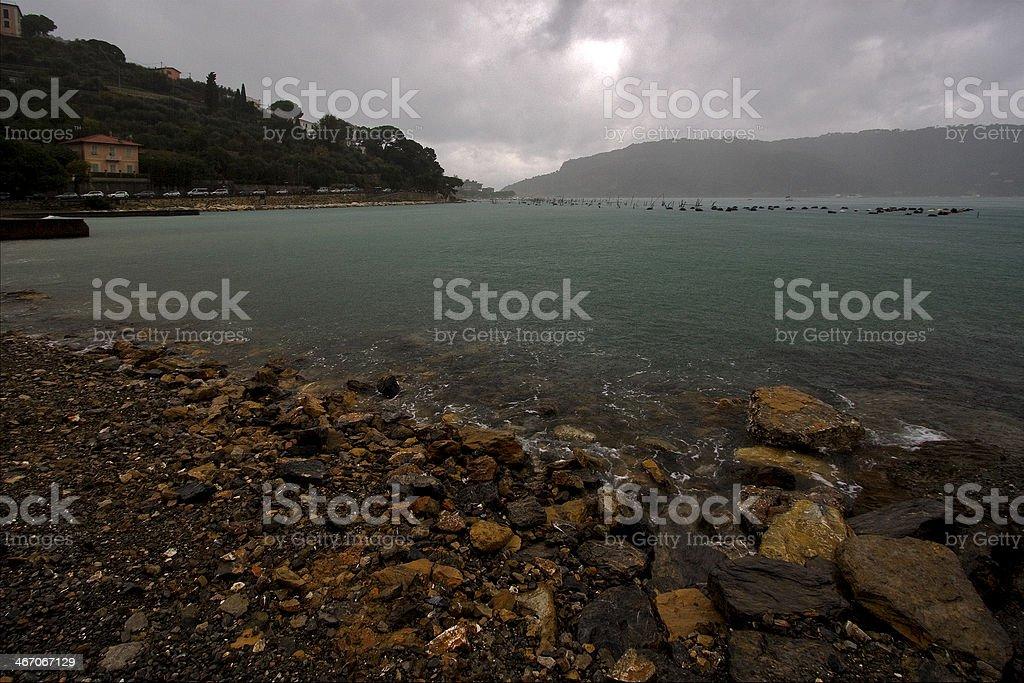 coastline and autumn porto venere royalty-free stock photo